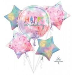 Happy Birthday Girl-chella Foil Balloon Bouquet