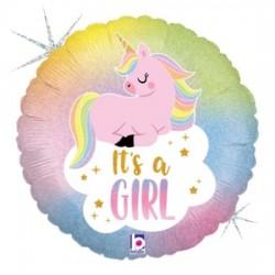 Glitter Pastel Unicorn Baby Foil Balloon