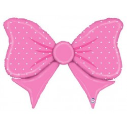 Bow Tie Foil Balloon- Pink