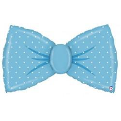 Bow Tie Foil Balloon- Blue