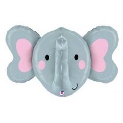 Elephant Face Foil Balloon