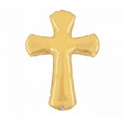 Gold Cross Foil Balloon