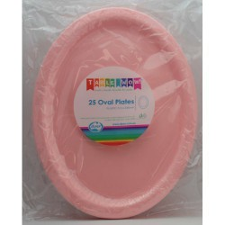 Oval Plates 25 Pce - Pink