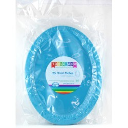 Oval Plates 25 Pce - Azure