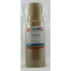 Alpen Party Cups 25 x 285ml - Gold