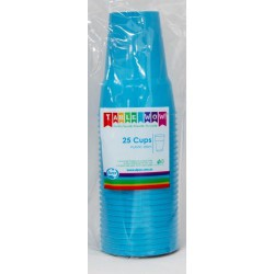 Party Cups 25 Pce, 285ml - Azure
