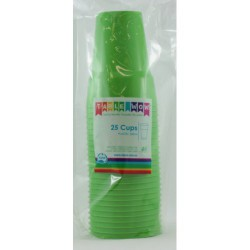 Party Cups 25 Pce, 285ml - Lime Green