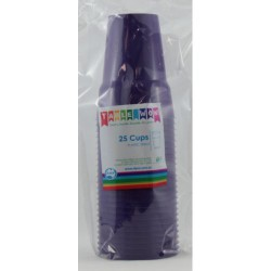 Party Cups 25 Pce, 285ml - Purple