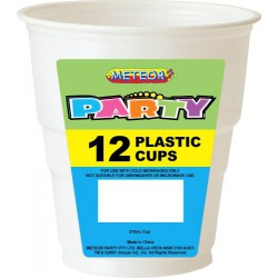 Party Cups 12 Pce, 270ml - White