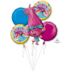 "*INFLATED* Trolls ""Poppy"" Foil Balloon Bouquet"