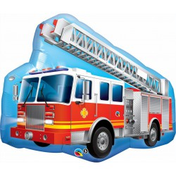 Red Fire Truck Foil Balloon
