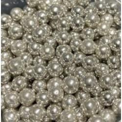 Cachous  Pearl Silver 100g- 6mm