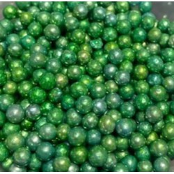 Cachous Pearl Green 100g-4mm