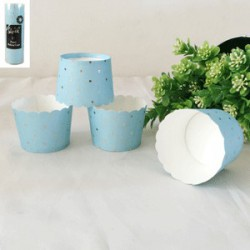 Paper Baking Cups-  Dotty Blue