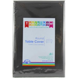 Table Cover Round - Black