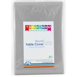 Table Cover Round - Silver