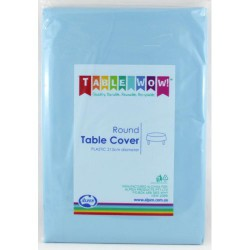 Table Cover Round - Light Blue