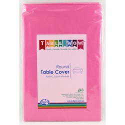 Table Cover Round - Hot Pink