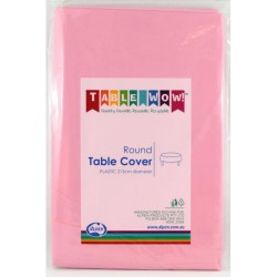 Table Cover Round - Pink