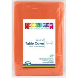 Table Cover Round - Orange