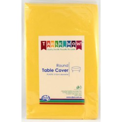 Table Cover Round - Yellow