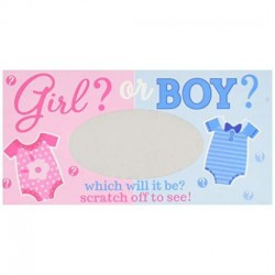 Baby Shower Gender Reveal (Girl)  Scratch Off Cards 12 Pack