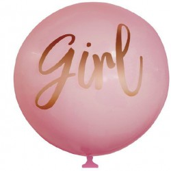 Baby Shower Printed Girl Balloon - Pink