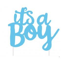 Baby Shower  It's a Boy Cake Topper- Blue