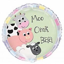 Moo Oink Baa  Foil Balloon