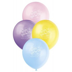 Baby Shower Printed latex Balloon 6 Pack