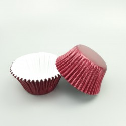Foil Baking Cups 25pce- Burgundy