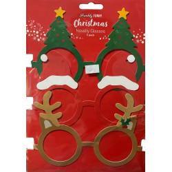 Christmas Novelty Glasses- 3 Pack