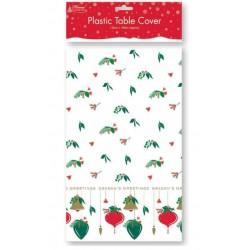 Christmas Rectangle Table Cover- Season Greetings