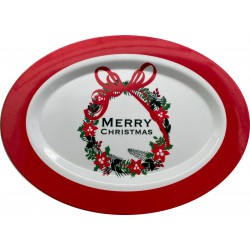Oval Acrylic Christmas Platter