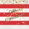 Red and Gold Sparkle Christmas Lunch Napkins -16 pack