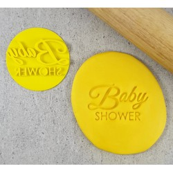 Baby Shower (dual font) Cookie Embosser
