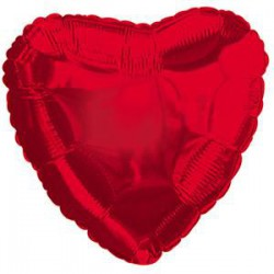 *INFLATED* Red Heart Shaped Balloon