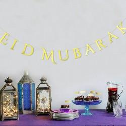 Eid Mubarak letter Garland