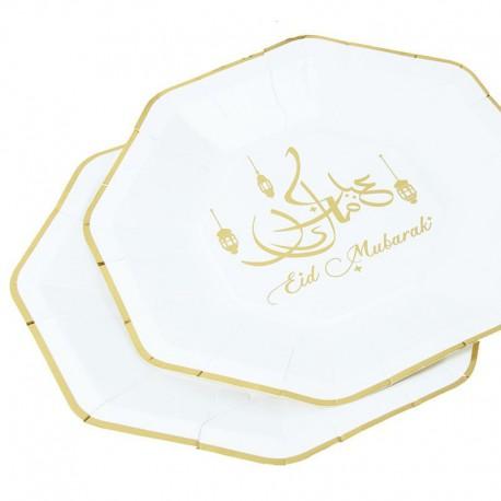 Eid Mubarak large Plates