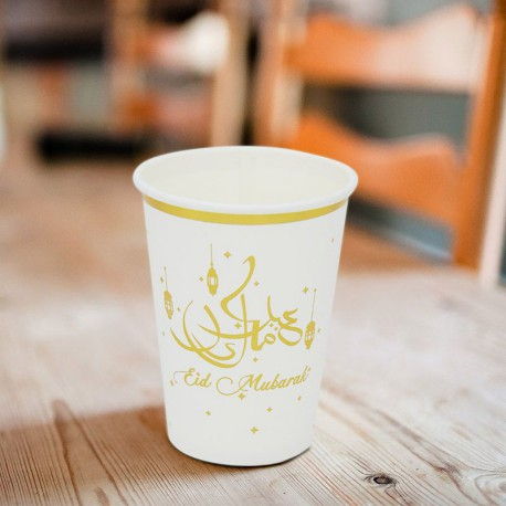 Eid Mubarak Paper Cups