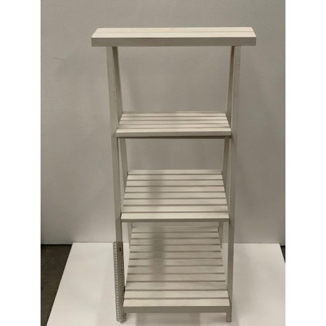 HEQ7- Wooden Step Ladder- White FOR HIRE