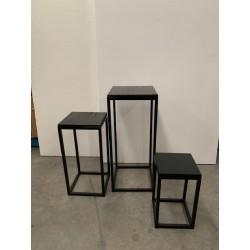 HEQ12- Black Metal Plinths FOR HIRE