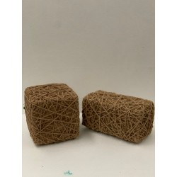 HEQ14- Burlap Twine Cube OR Rectangle FOR HIRE