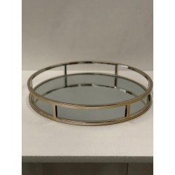 HEQ18-Mirror Tray - Silver Round FOR HIRE