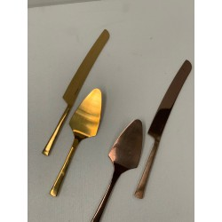 HEQ21- Cake Knife and Server- Rose Gold OR Gold FOR HIRE