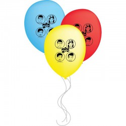 The Wiggles Latex Balloon set - 6 pack