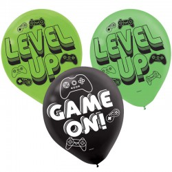 Level Up  Game On latex Balloon Pack