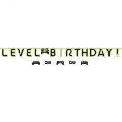 Level Up  Gaming Birthday Banner Kit
