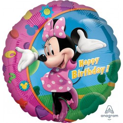 Minnie Mouse Happy Birthday Foil Balloon