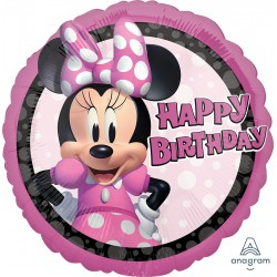 Minnie Mouse Forever Happy Birthday Foil Balloon